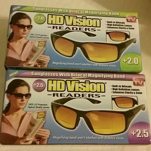 Two pairs of HD VISION Readers, As seen on TV